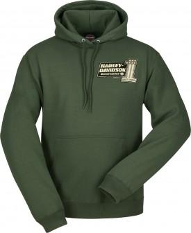 Men's Olive Green Pullover Hooded Sweatshirt - Overseas Tour | Number 1