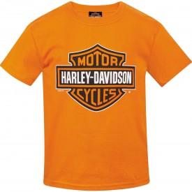 Harley-Davidson Youth Bar & Shield Orange T-shirt   Camp Humphreys