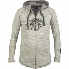 Harley-Davidson Women's French Terry Hooded Zip Jacket - Overseas Tour | Relic