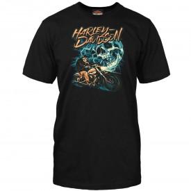 Harley-Davidson Men's Graphic T-Shirt - Kadena Air Base   Ride The Lightning