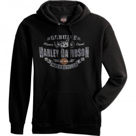 Men's Black Hooded Pullover Sweatshirt - Overseas Tour | Rough Genuine