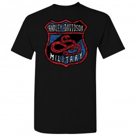 Men's Black Graphic T-Shirt - Al Udeid Air Base | Snake Shield