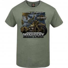 "Men's Heather Military Green Graphic T-Shirt - ""Tour of Duty Pacific"""