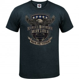 Men's Charcoal Eagle Graphic T-Shirt - Overseas Tour | Veterans Support