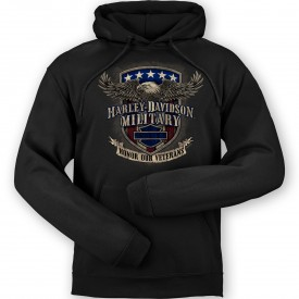 Harley-Davidson Men's Pullover Hooded Graphic Sweatshirt - Overseas Tour | Veterans Support