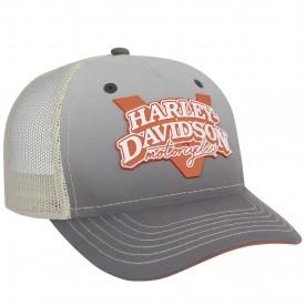 Harley-Davidson Military - Women's Grey Adjustable Closure Ballcap - Overseas Tour   V-Twin Power