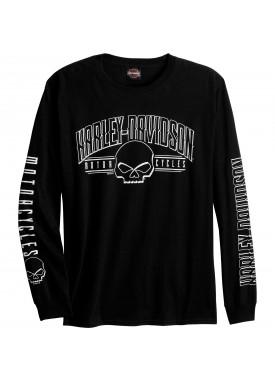Harley-Davidson Men's Long-Sleeve Graphic Tee - USAG Yongsan   Arch G