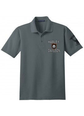 Harley-Davidson Military Men's Short-Sleeve Polo Sport Shirt - Overseas Tour | Inner Shield