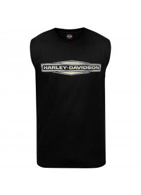 Harley-Davidson Men's Sleeveless Graphic T-Shirt - USAG Grafenwohr | Chrome Diamond