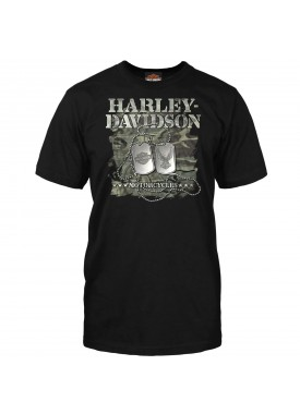 Men's Black Graphic T-Shirt - Overseas Tour | Dog Tags