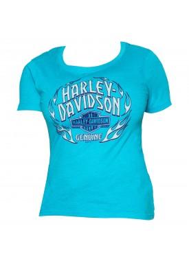 Harley-Davidson Women's Short-Sleeve Scoop Neck Graphic T-Shirt - Yokosuka | Flashpoint