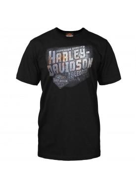 Harley-Davidson Men's Black Crew Neck Graphic T-Shirt - RAF Mildenhall | Iron Freedom