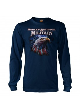 Harley-Davidson Men's Graphic Long-Sleeve T-Shirt - Overseas Tour | Patriot Eagle