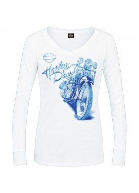 Harley-Davidson Women's Long-Sleeve V-Neck Tee - Baghdad | Polished