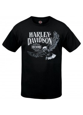 Harley-Davidson Men's Black Short-Sleeve Graphic T-Shirt - RAF Lakenheath | Retro Vibe