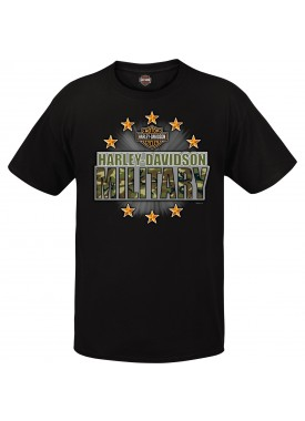 Harley-Davidson Military Graphic T-shirt - Overseas Tour | Military Stars