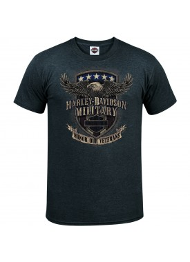 Harley-Davidson Men's Graphic T-Shirt - Overseas Tour | Veterans Support
