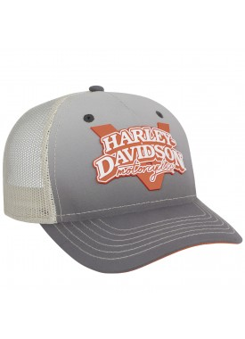 Harley-Davidson Military - Women's Grey Adjustable Closure Ballcap - Overseas Tour | V-Twin Power