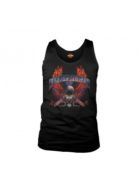 Harley-Davidson Men's Eagle Tank Top - Camp Lemonnier | Wings of Fire