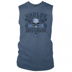 Harley-Davidson Military Men's Skull Graphic Sleeveless Tee - Ramstein Air Base | Accomplice