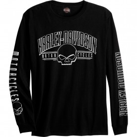 Harley-Davidson Men's Long-Sleeve Graphic Tee - USAG Yongsan | Arch G