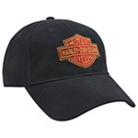 Harley-Davidson Military - Black 100% Brushed Cotton Ballcap with Adjustable Closure - LNY