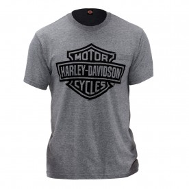Men's Graphite Bar & Shield Pocket Tee - USAG Yongsan