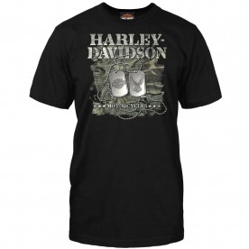 Harley-Davidson Military Men's Graphic Tee - Military Dog Tags | Overseas Tour
