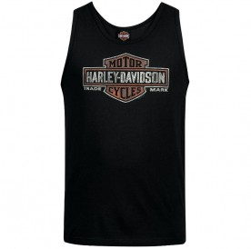 Harley-Davidson Military - Men's Black Bar and Shield Graphic Tank Top - Camp Foster | Elements