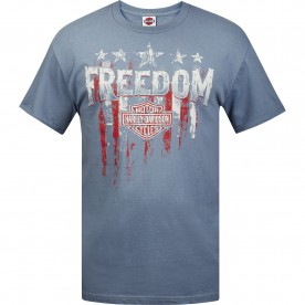 Harley-Davidson Men's Graphic T-Shirt - Kandahar Air Base | Freedom Flag - MADE IN USA