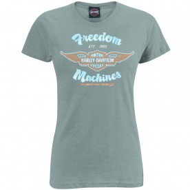 Harley-Davidson Women's Scoop Neck Tee - USAG Yongsan | Freedom Machines