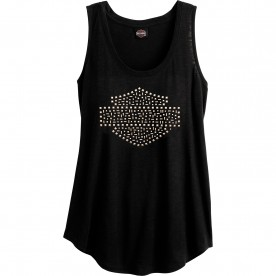 Harley-Davidson Women's Slub Tank Top with Studs | Camp Lemonnier - Fresh Shine