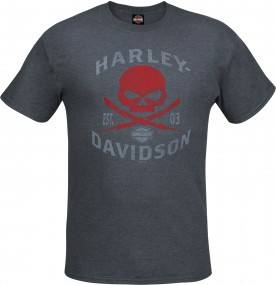 Harley-Davidson Military - Men's Charcoal Graphic Skull Graphic T-Shirt - Camp Arifjan | G Shock
