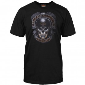 Harley-Davidson Military - Men's Black Skull Graphic T-Shirt - Baghdad | Ghoulish
