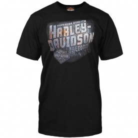 Harley-Davidson Men's Black Crew Neck Graphic T-Shirt - RAF Mildenhall | Iron Freedom