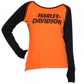 Harley-Davidson Women's Long-Sleeve Raglan Top - Ramstein Air Base | Light It Up
