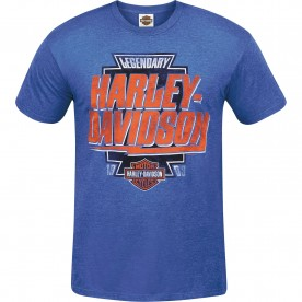 Harley-Davidson Men's Lightweight Contemporary Fit T-Shirt - USAG Wiesbaden   Name Flash
