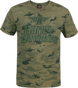 Harley-Davidson Military - Men's Camouflage Graphic T-Shirt - USAG Grafenwohr | Premium Name