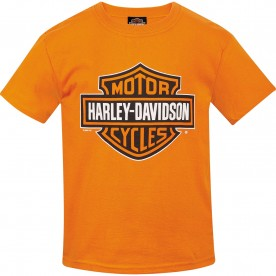 Kids Bar & Shield Graphic Orange T-shirt | Camp Humphreys