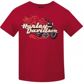 Harley-Davidson Kids/Youth Crew Neck T-Shirt - USAG Wiesbaden | Bike Blaze