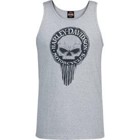 Harley-Davidson Military - Men's Heather Grey Graphic Tank Top - NSA Naples | G Drip