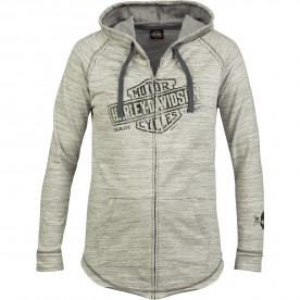 Women's Oatmeal French Terry Hooded Zip Jacket - Overseas Tour | Relic