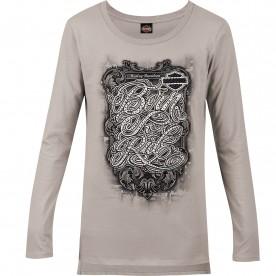 Women's Grey Long-Sleeve Graphic T-Shirt - Overseas Tour | Ride Away