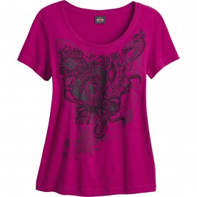Harley-Davidson Women's Scoop Neck Graphic T-Shirt - NSA Naples | Secure