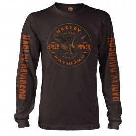 Harley-Davidson Men's Long-Sleeve Graphic T-Shirt - USAG Wiesbaden | Show Me
