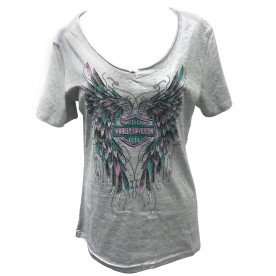 Harley-Davidson Women's Graphic V-Neck T-Shirt - Camp Arifjan | Sketch Wings