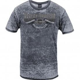 Harley-Davidson Men's Short-Sleeve Burnout Washed Graphic T-Shirt - NSA Naples | Timeless Wave