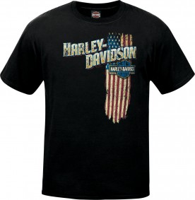 Men's Patriotic Graphic T-Shirt - NAS Sigonella | Vertical Flag (MADE IN USA)