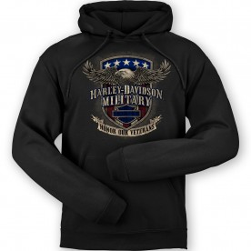 Harley-Davidson Men's Pullover Hooded Graphic Sweatshirt - Overseas Tour | Veterans Support