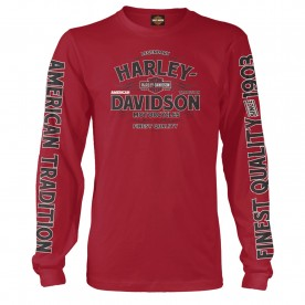 Harley-Davidson Men's Long-Sleeve T-Shirt - Kadena Air Base | Vintage Tradition